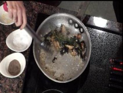 Restaurant recipe for a savory mushroom fettuccine
