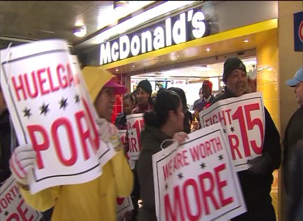 Chicago workers strike at fast-food and major retail chains