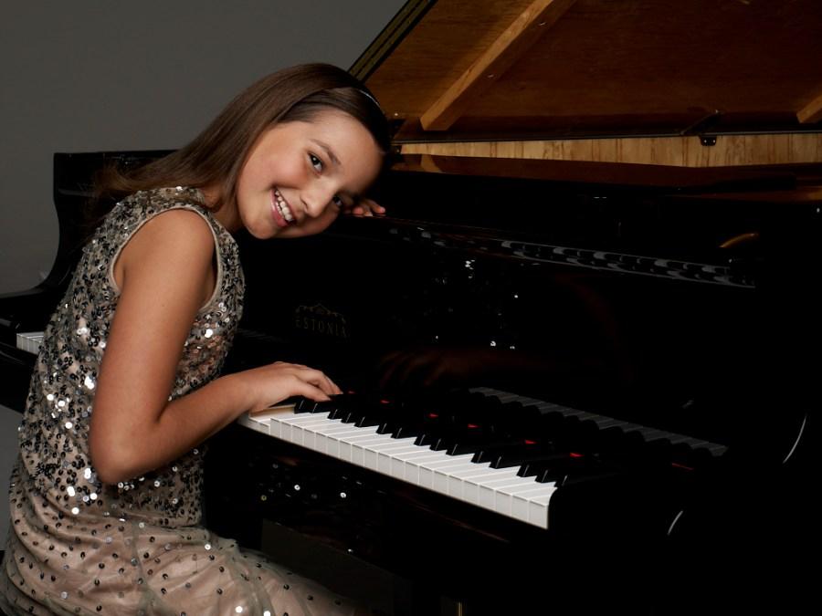 Emily at piano