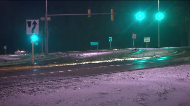 Freezing rain leads to weather advisory, slick roads