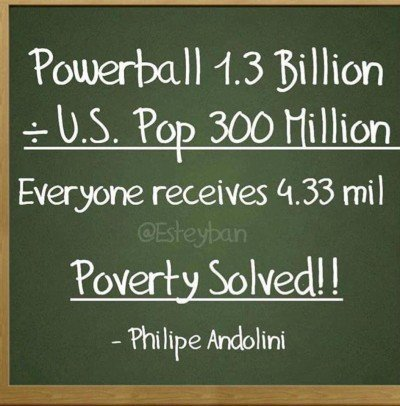 Viral Powerball Meme Claiming Poverty Can Be Solved By Splitting Jackpot Is Very Wrong Wgn Tv