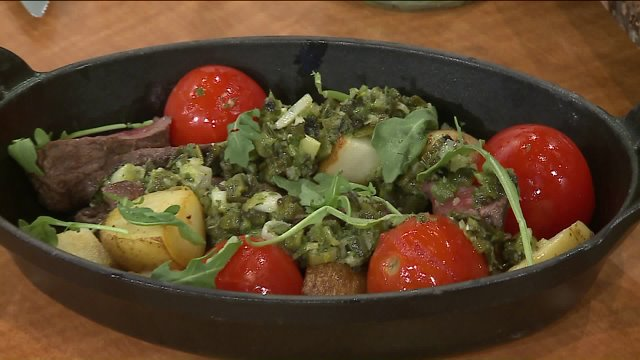 Lunchbreak Chimichurri Skirt Steak Prepared By Earls Kitchen And Bar Chef Chris Memme Wgn Tv