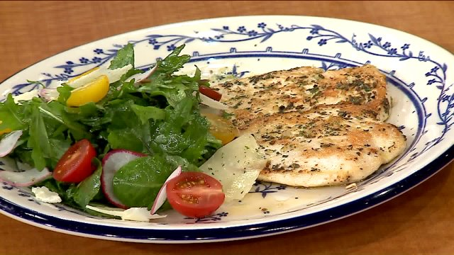 Lunchbreak Grilled Chicken Paillard With Marinated Tomato Simple Greens Black Truffle Vinaigrette Prepared By Cochon Volant Brasserie Chef Matt Ayala Wgn Tv