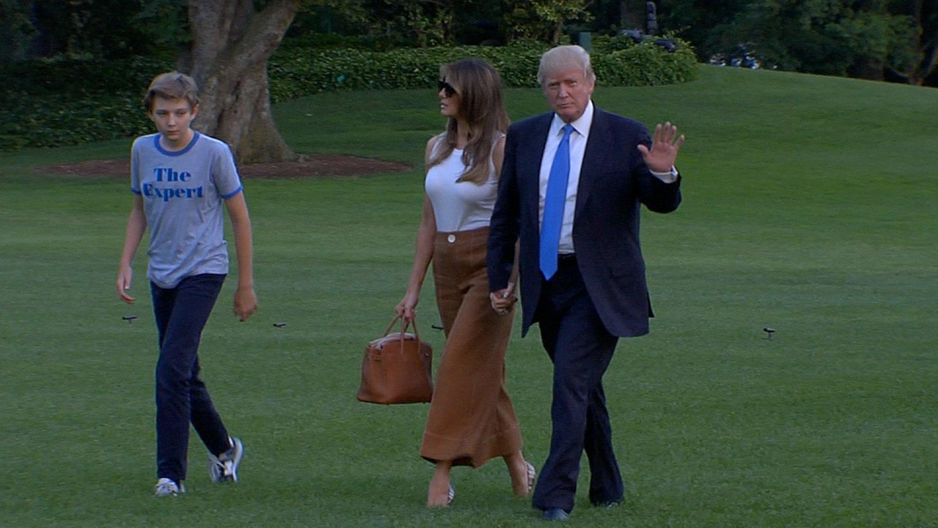 Melania and Barron Trump move into