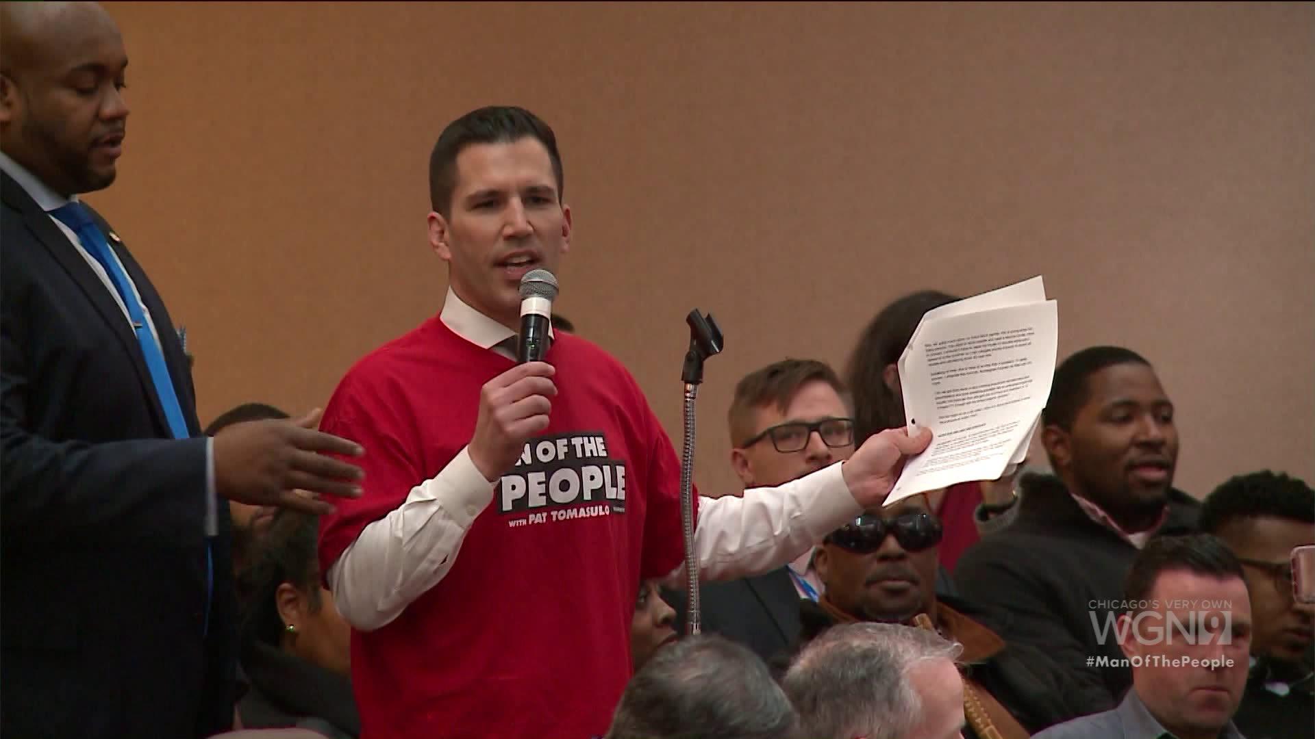 Pat Tomasulo Crashes Chicago City Council Meeting