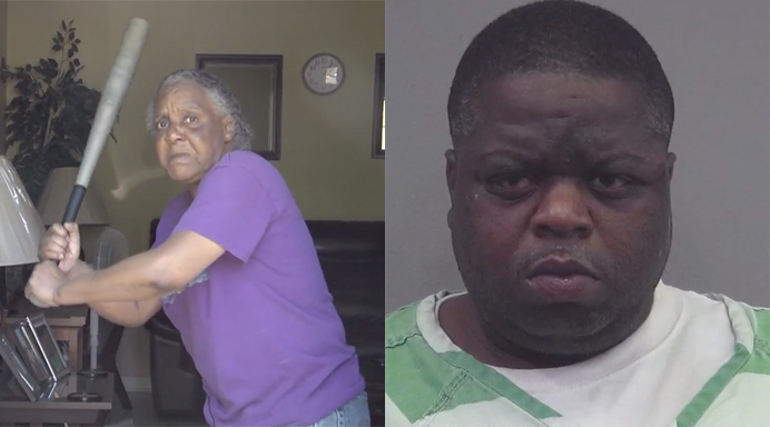 65-year-old grandma fends off half-naked, 300-pound robber