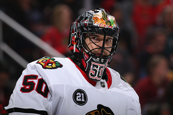 With Corey Crawford Out The Blackhawks Look To Other Options In Net Wgn Tv