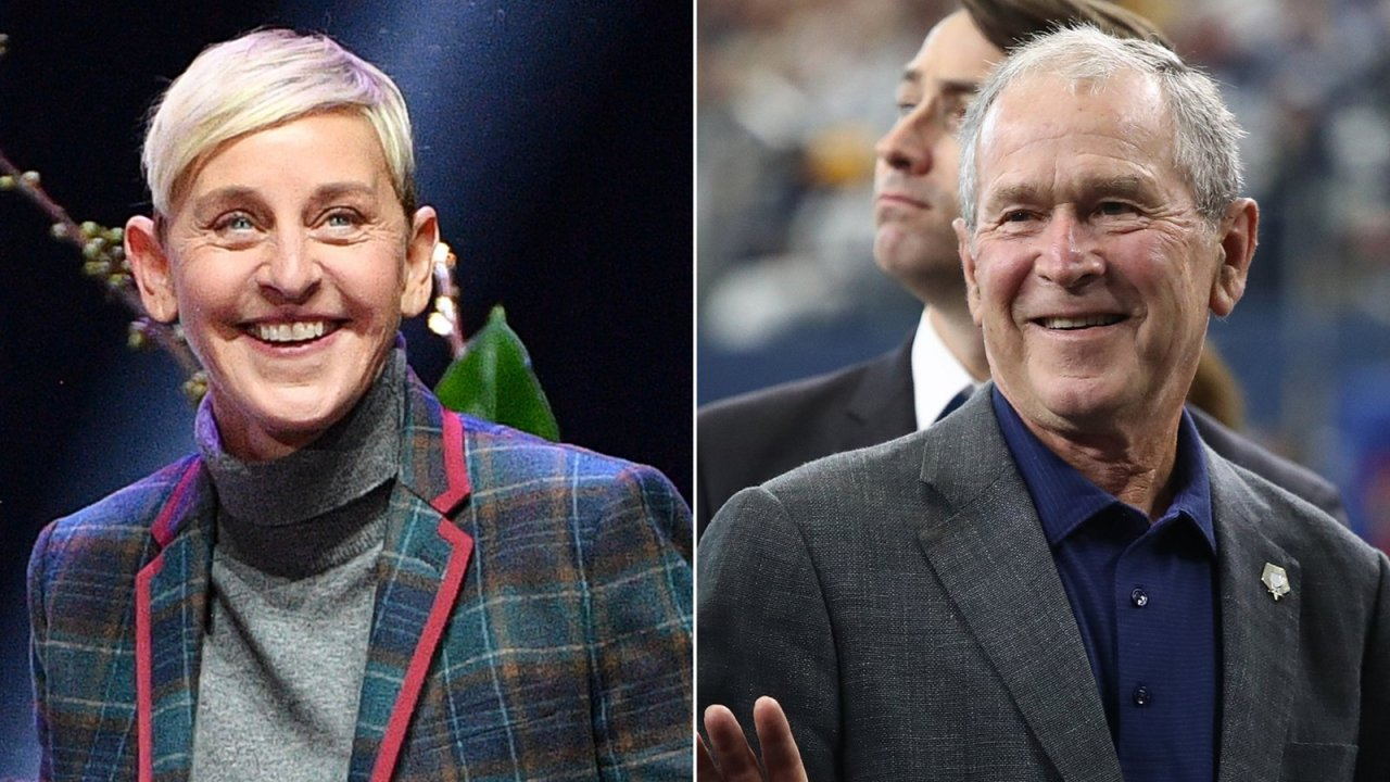 Ellen Degeneres Talks Sitting Next To Friend George W Bush At Cowboys Game Wgn Tv