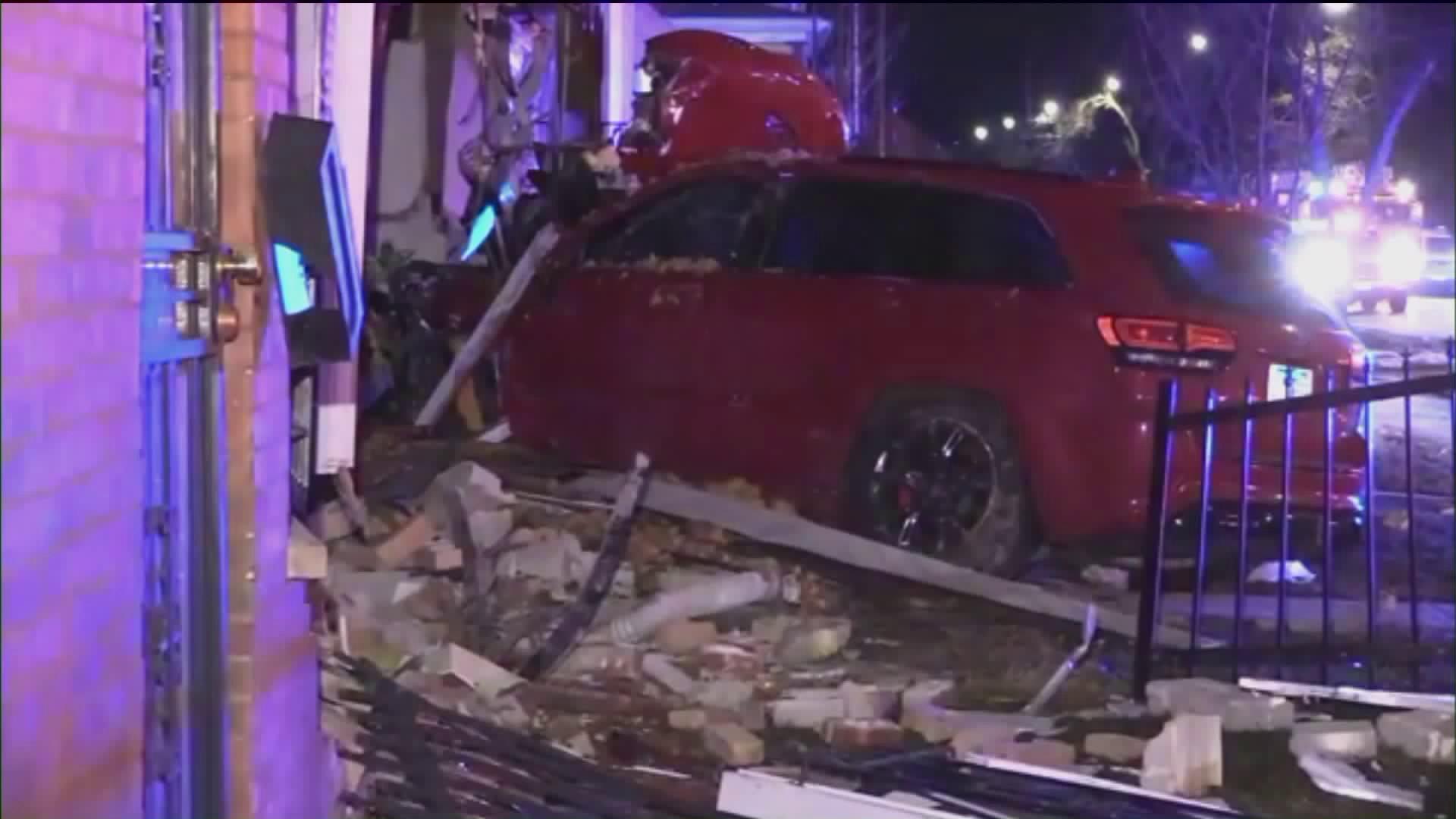 a jeep crashed into a Far South Side home