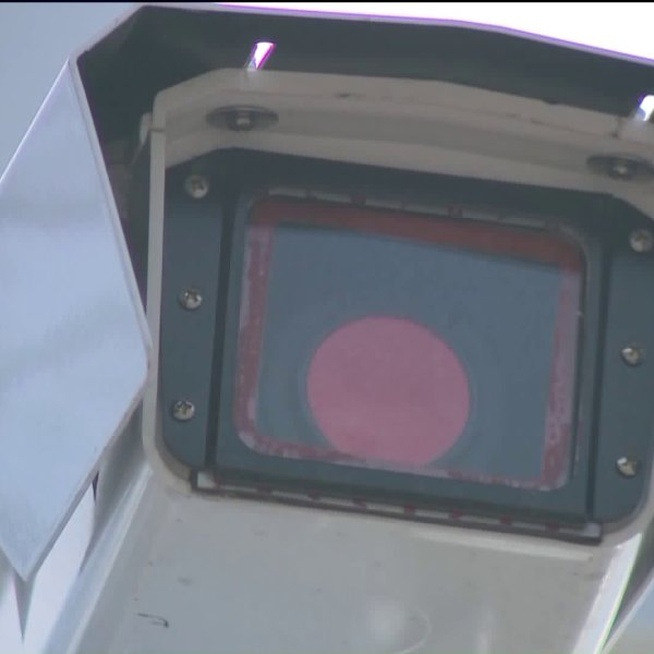 close view of a red light camera