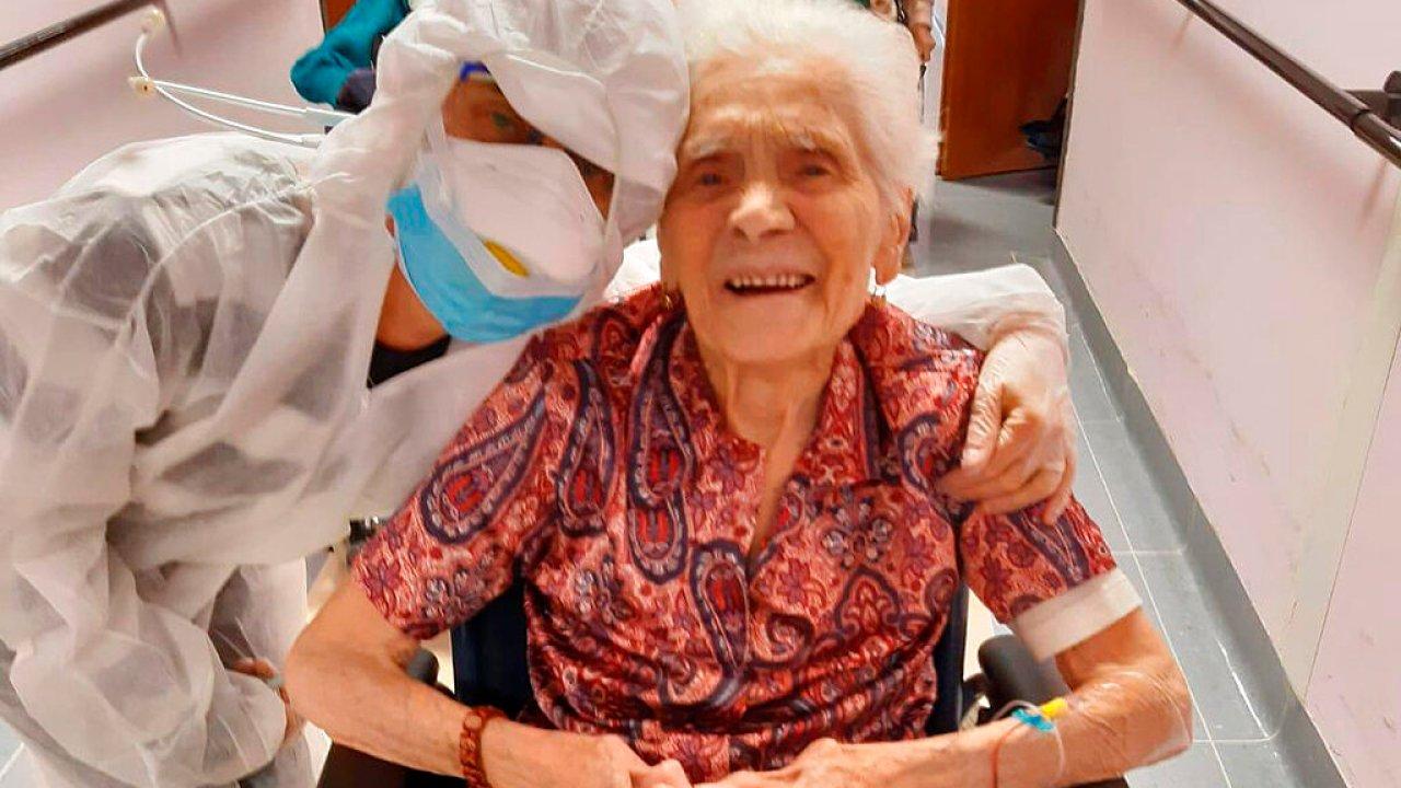 103 tahun buyut mengatakan keberanian, hidrasi, iman membantu mengalahkan virus