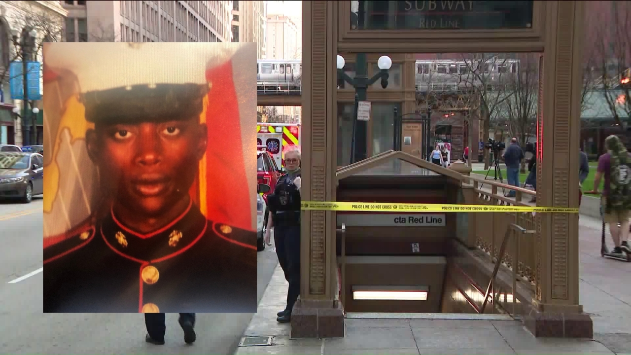 Man pushed in front of El train, killed was Marine who served in Afghanistan