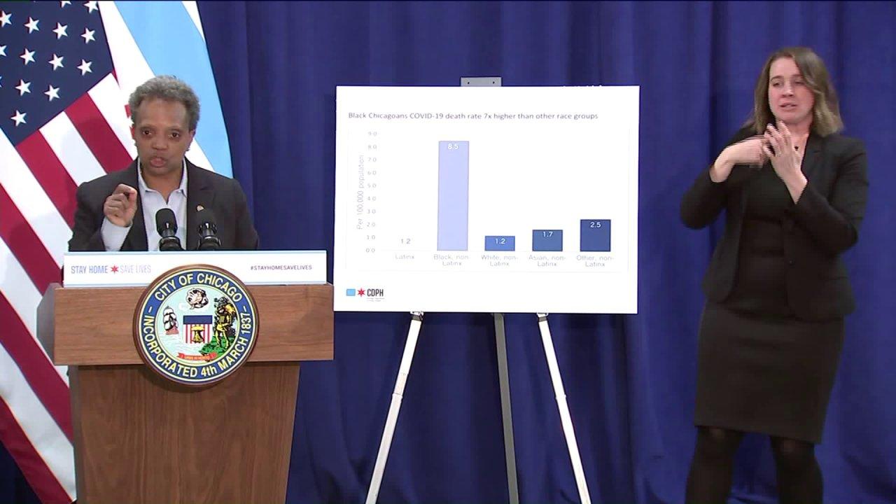 Über 70% der Chicago COVID-19 Todesfälle waren Afro-Amerikaner, sagen die Beamten