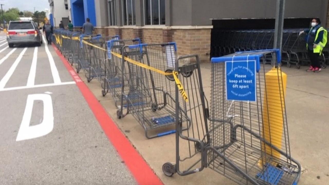 Walmart beschränken der Anzahl der Kunden in den Läden ab Samstag
