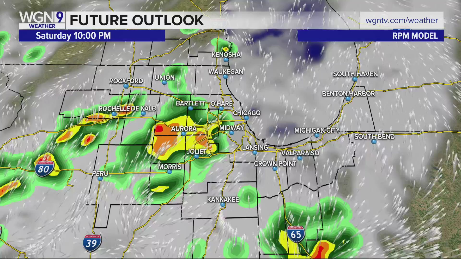 Severe weather west of Chicago Saturday | WGN TV