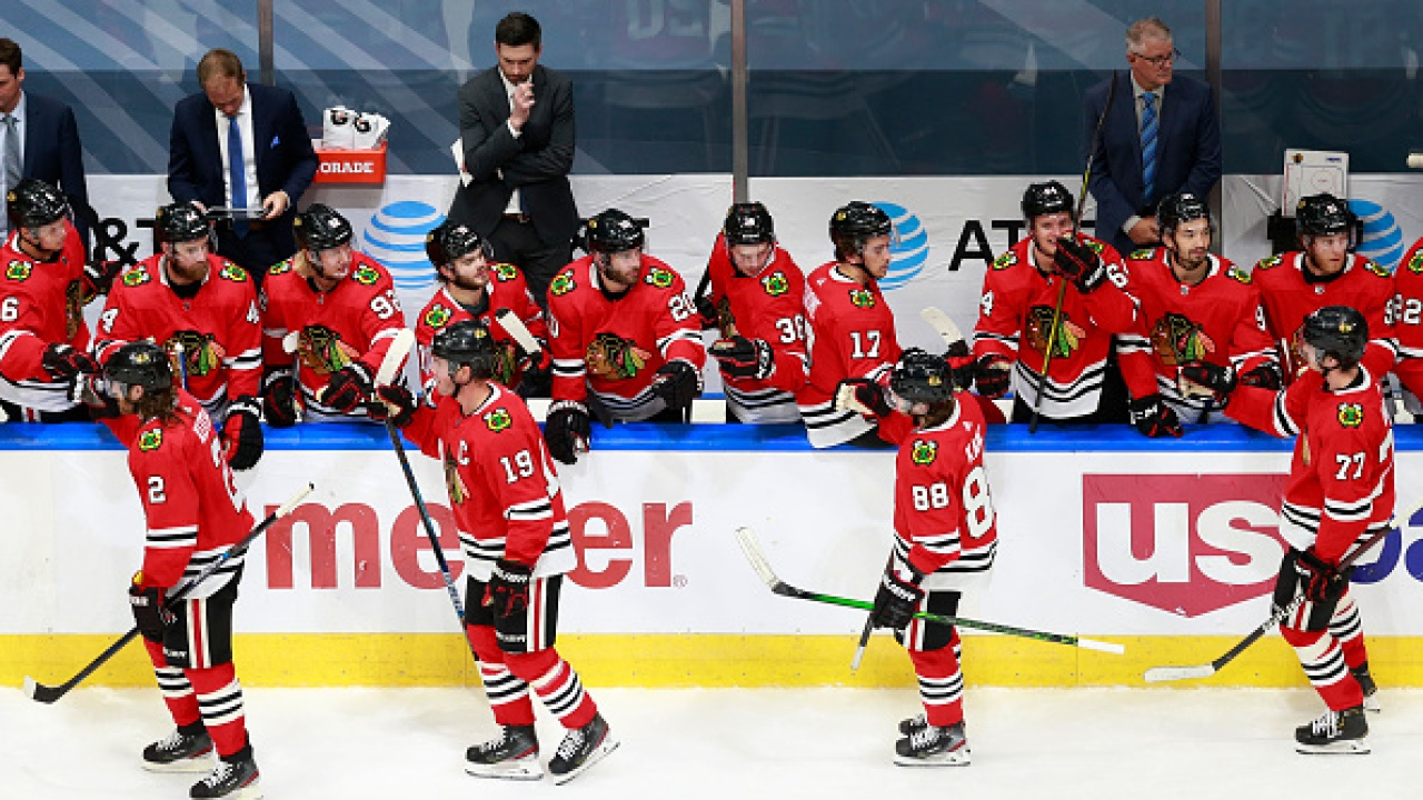 After nearly five months, the Blackhawks return to the ice Saturday