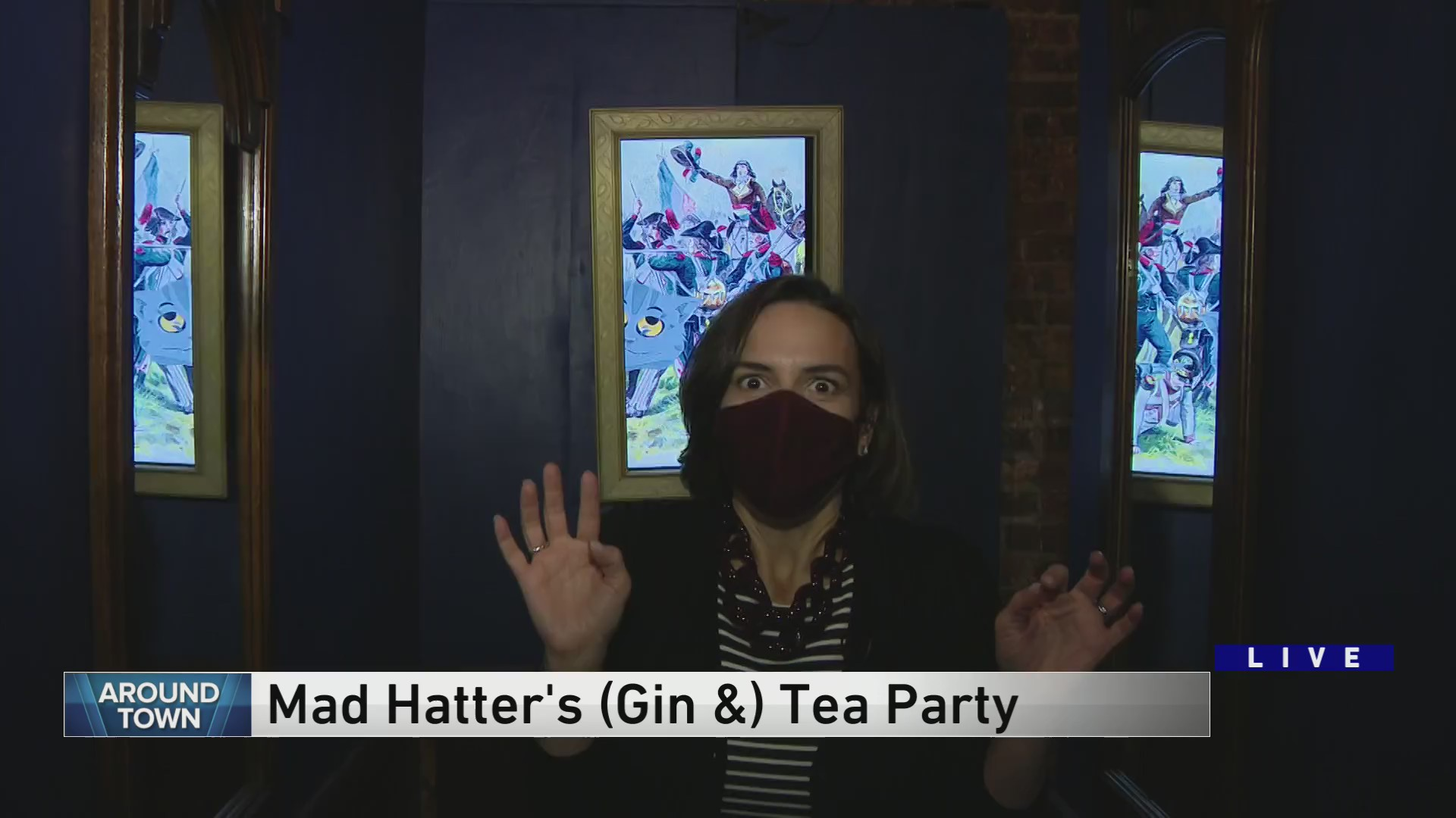 Around Town Checks Out The Mad Hatter S Gin Tea Party Wgn Tv