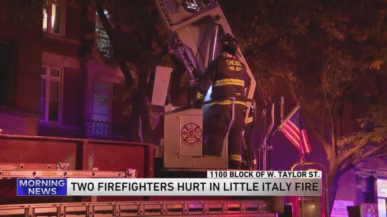 2 firefighters injured after fire in Little Italy