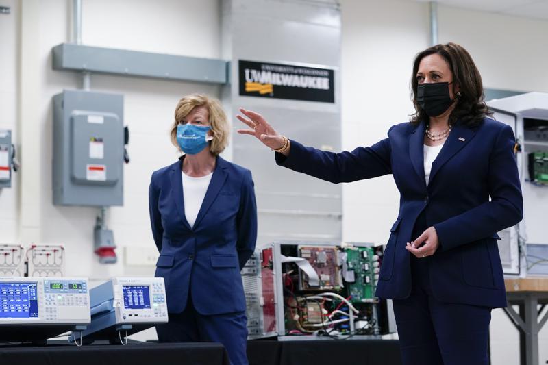 VP Kamala Harris touts research during first Wisconsin trip