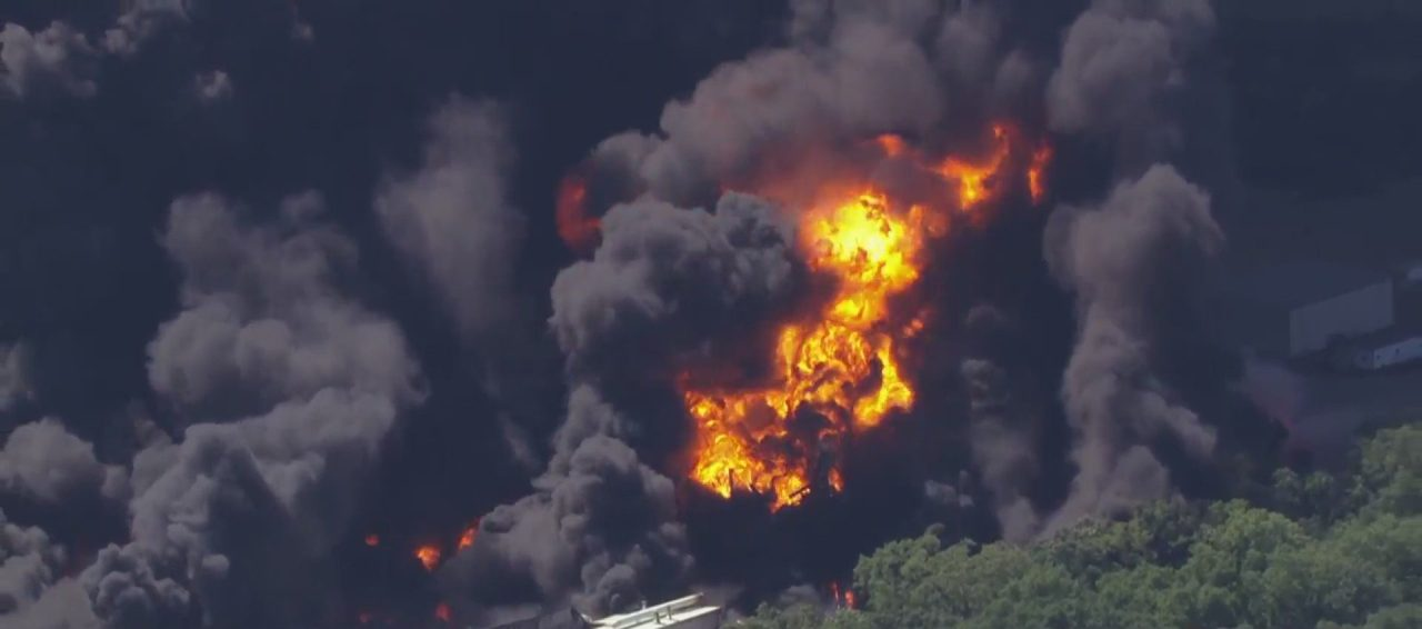 Explosion massive fire at chemical plant prompts evacuations in Rockton – WGN TV Chicago