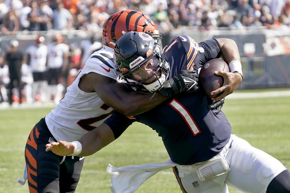 Chicago Bears quarterback Justin Fields